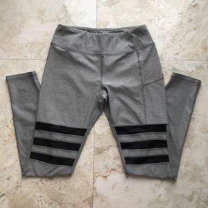 Medium Gray & Black Mesh legging
